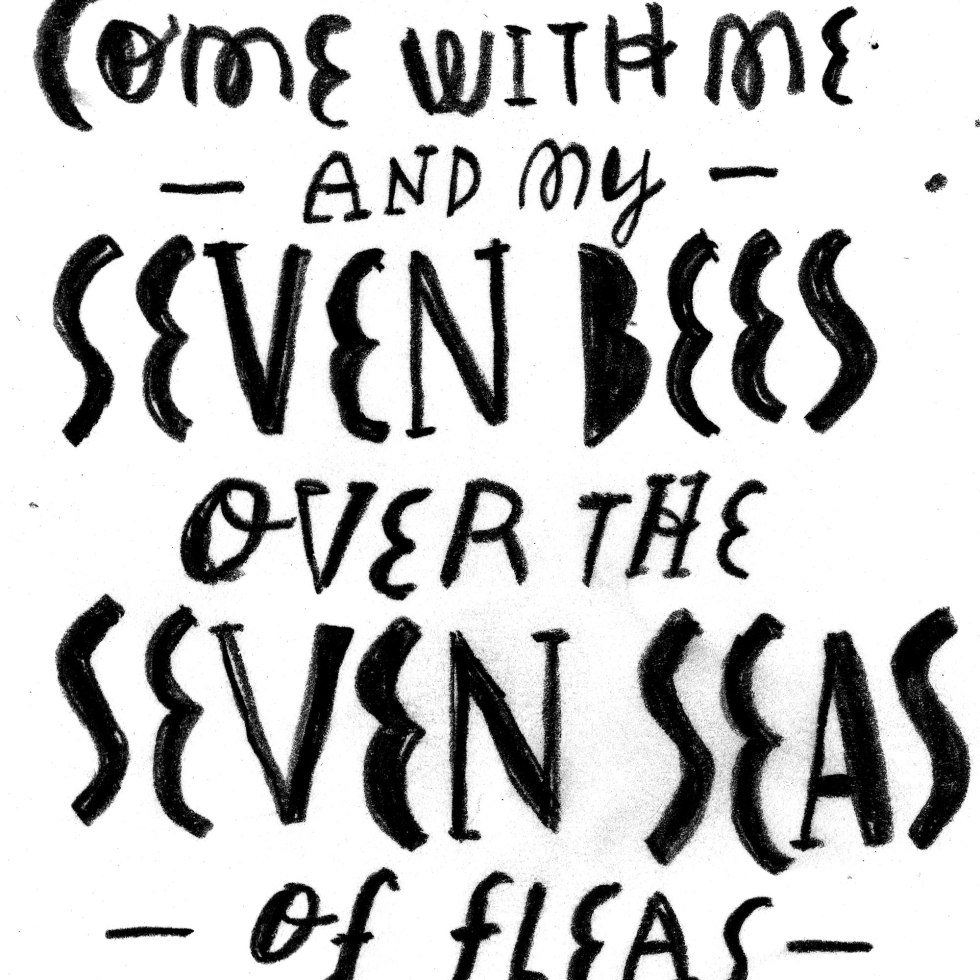 Seven Bees illustration by lobsterboy